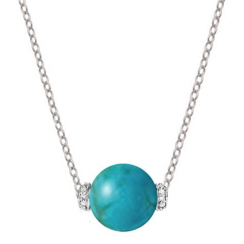 Alexa by Liv Oliver Turquoise Zirconia Necklace