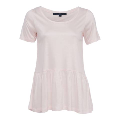 French Connection Capri Blush Miro Mercerised Peplum Jersey Top