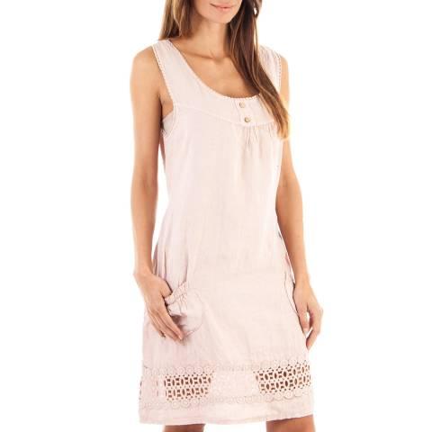 Toutes belles en LIN Rose Venezia Linen Dress