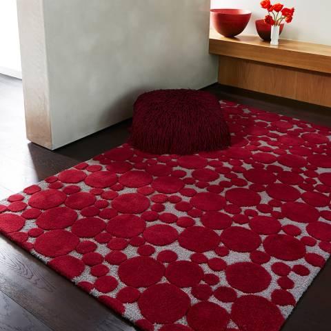 Plantation Rug Company Crimson Bubbles Rug 120x170cm