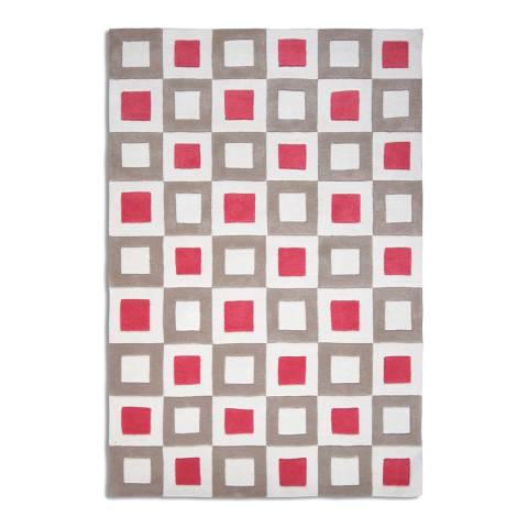 Plantation Rug Company Pink/Beige Square Pants Rug 120x170cm