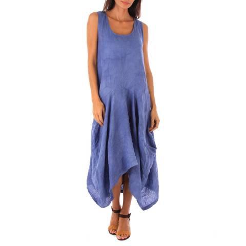 Toutes belles en LIN Indigo Davos Linen Dress