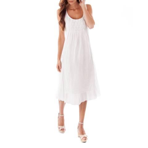 Toutes belles en LIN White Mykonos Linen Dress