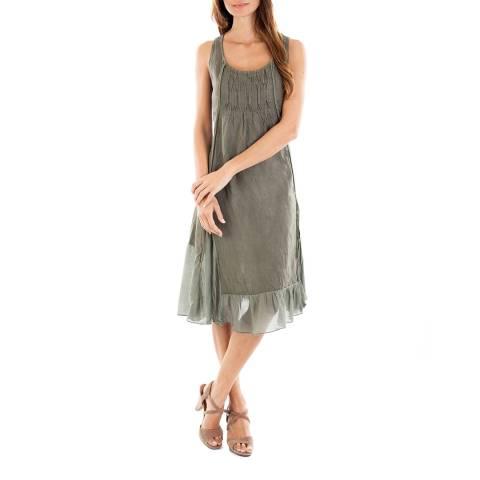 Toutes belles en LIN Khaki Mykonos Linen Dress