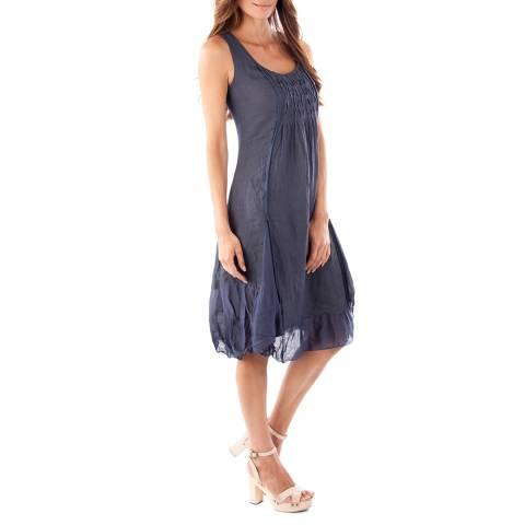 Toutes belles en LIN Navy Mykonos Linen Dress