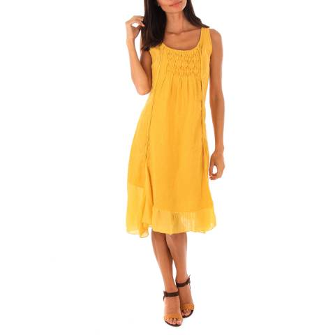 Toutes belles en LIN Yellow Mykonos Linen Dress