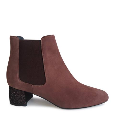 Elia B Pink Suede Malu Ankle Boot