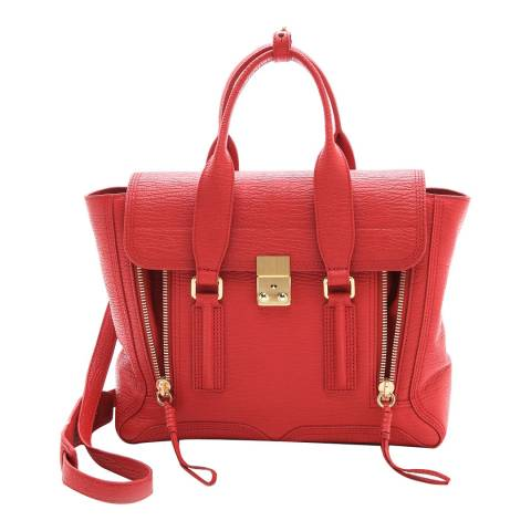 3.1 PHILLIP LIM Red Leather Pashli Medium SatchelRed