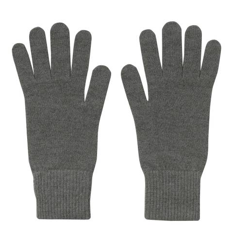Laycuna London  Green Ribbed Short Cashmere Gloves