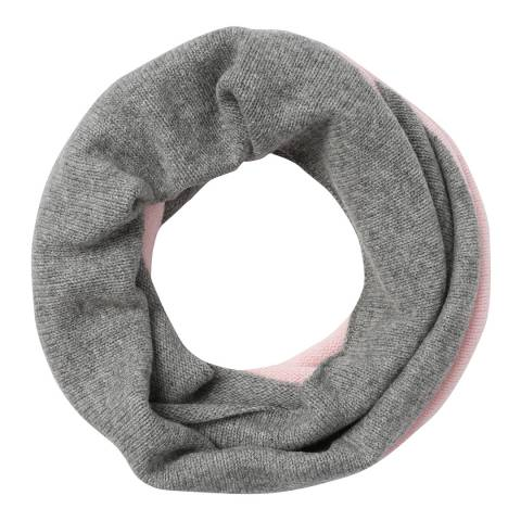 Laycuna London  Pink Two Tone Cashmere Snood
