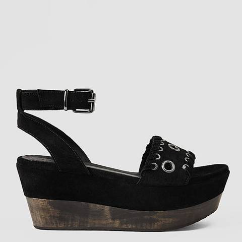 All Saints Black YUKI SANDAL HEELED SANDAL