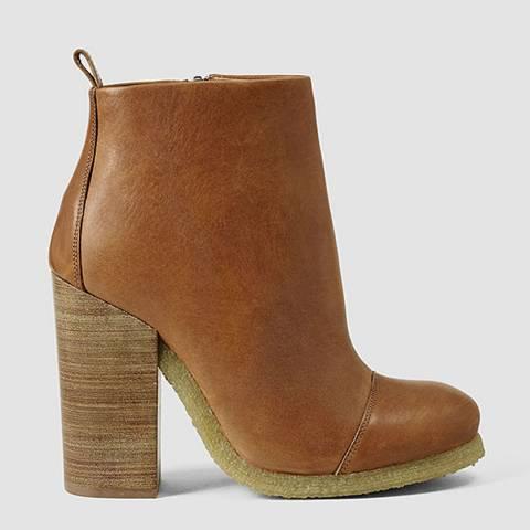 AllSaints Tan Leather Lakote Boots