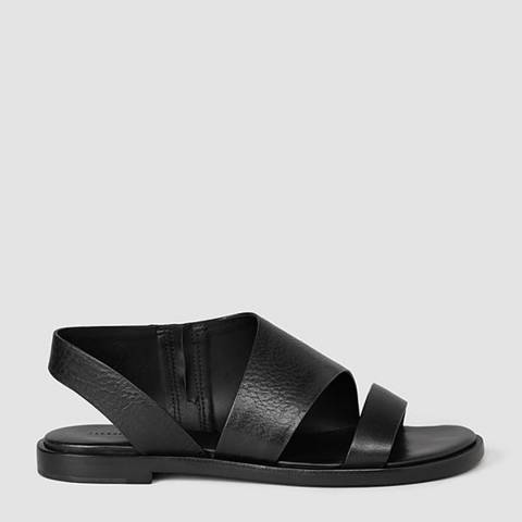 AllSaints Black Webber Leather Sandals