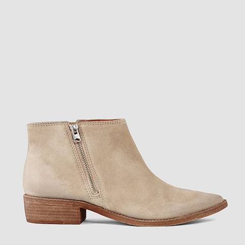 AllSaints Sand Leather Yuree Ankle Boots