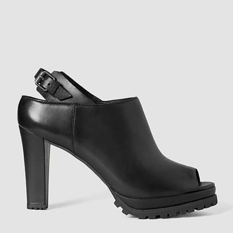 AllSaints Black Leather Hathaway Heeled Boots