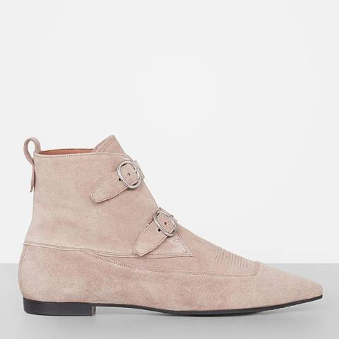 AllSaints Sepia Pink Leather Viv Boot