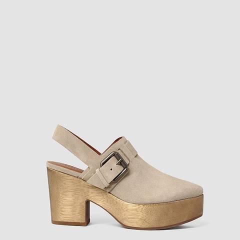 AllSaints Sand Leather Gothenberg Clogs