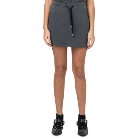 Religion Women's Dark Metal Cotton Runaway Mini Skirt