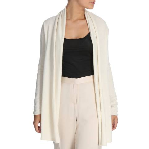 Cocoa Cashmere Natural White Waterfall Cashmere Cardigan