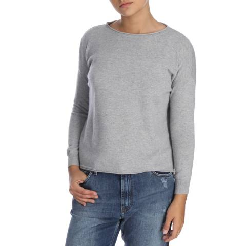 Cocoa Cashmere Long Sleeve Grey Cashmere Jumper