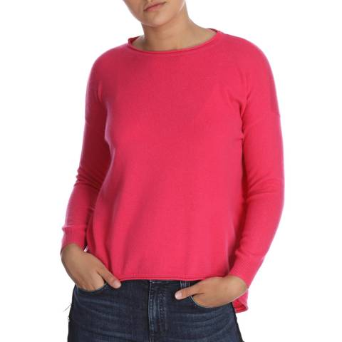 Cocoa Cashmere Long Sleeve Pink Cashmere Jumper
