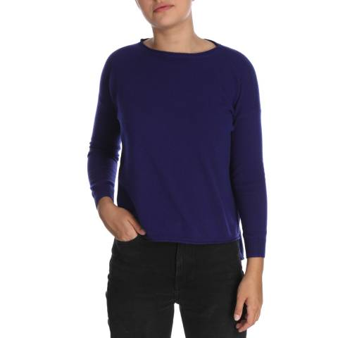 Cocoa Cashmere Long Sleeve Navy Cashmere  Jumper