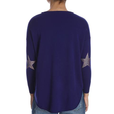 Cocoa Cashmere Curved Hem Star Embroidered Cashmere Jumper
