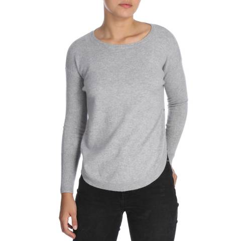 Cocoa Cashmere Grey Cashmere Long Sleeve Jumper