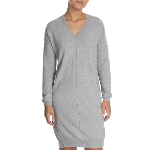 Cocoa Cashmere Grey Long Sleeved Cashmere Dress