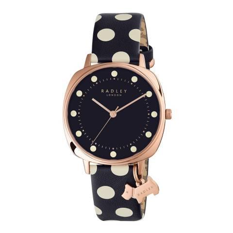 Radley Ladies' Navy/White Kennington Spot Leather Strap Watch