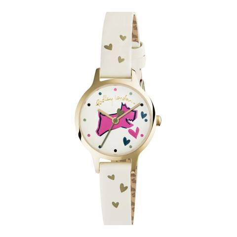Radley Cream 'Love Lane' Leather Strap Watch