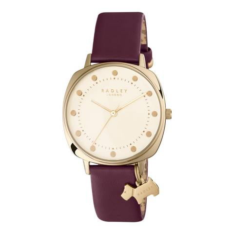 Radley Ladies' Burgundy Kennington Port Leather Strap Watch