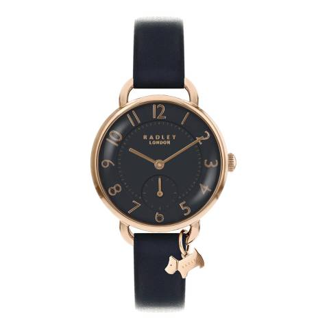 Radley Navy Blue Southwark Park Leather Strap Watch