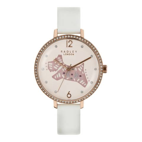 Radley Cream Folk Dog Leather Strap Watch