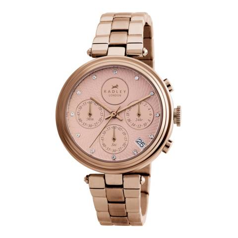 Radley Rose Gold Chronograph Bracelet Watch