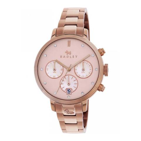 Radley Rose Gold Battersea Chronograph Bracelet Watch