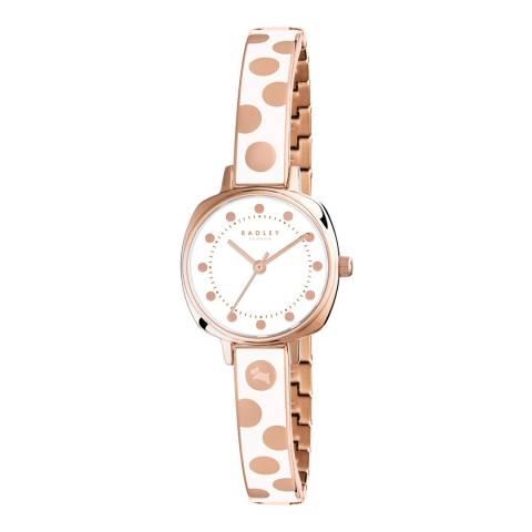 Radley White/Rose Gold Kennington Spot Half Bangle Watch