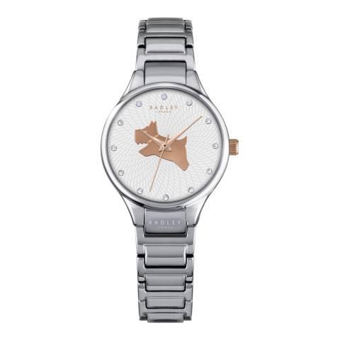 Radley Ladies' Silver Stainless Steel On The Run Link Bracelet Watch