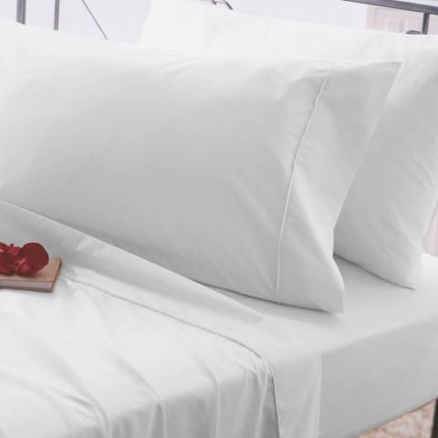 Belledorm Easycare King Fitted Sheet, White