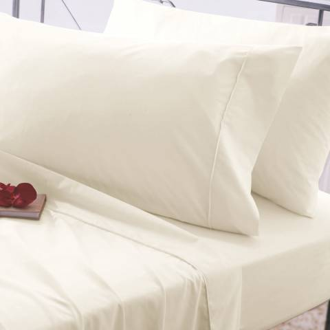 Belledorm Easycare Super King Fitted Sheet, Ivory
