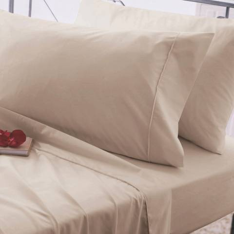 Belledorm Easycare King Fitted Sheet, Walnut Whip