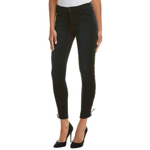 J Brand Black Maria High Rise Laced Stretch Jeans