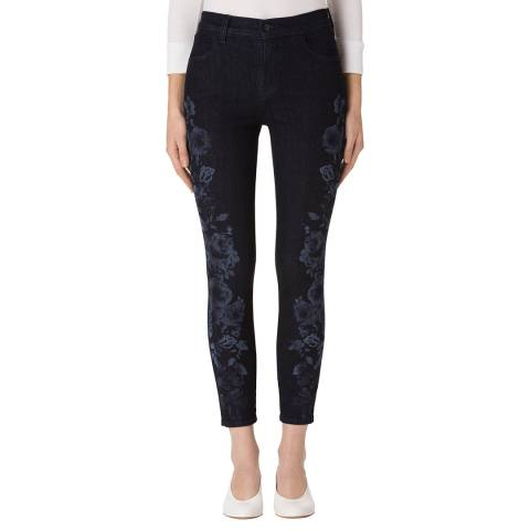 J Brand Indigo Blossom Alana Skinny Stretch Jeans