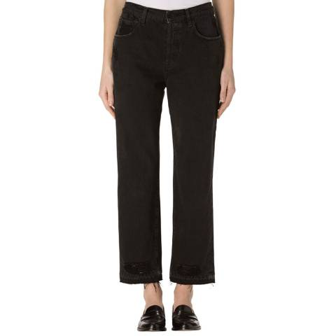 J Brand Double Cross Ivy Cropped Straight Jeans with Release Hem