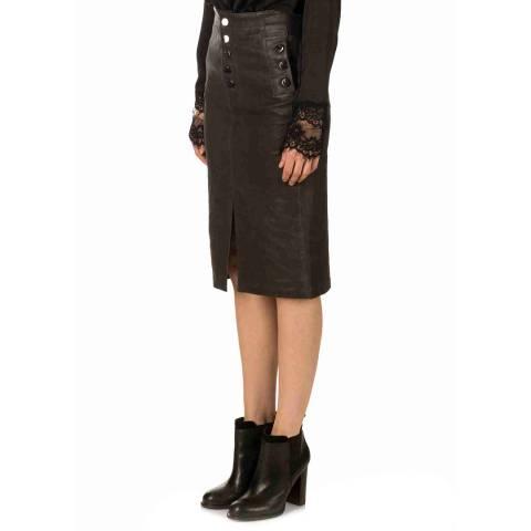 J Brand Dark Platinum Natasha Sky High Skirt