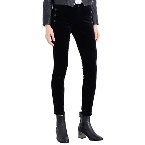 J Brand Black Zion Mid Rise Skinny Stretch Jeans