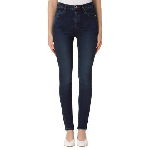 J Brand Throne Navy Carolina Skinny Stretch Jeans