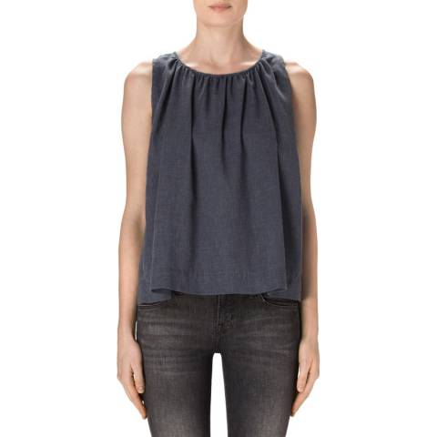 J Brand Indigo Isla Sleeveless Top