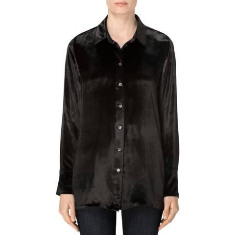 J Brand Black  Nora Velvet Shirt