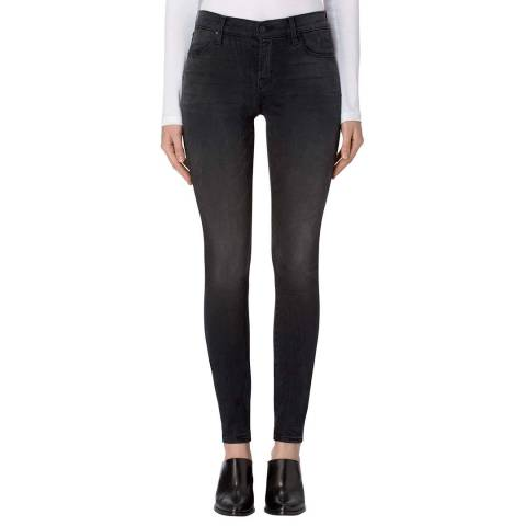 J Brand Dark Sanctify Black 620 Skinny Stretch Jeans